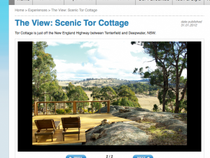 Australian Traveller features Tor Cottage